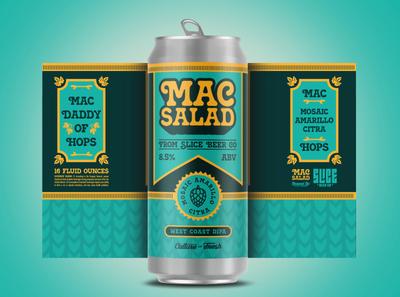 MAC Salad hops craft beer packaging design beer identity type badge logo branding typography