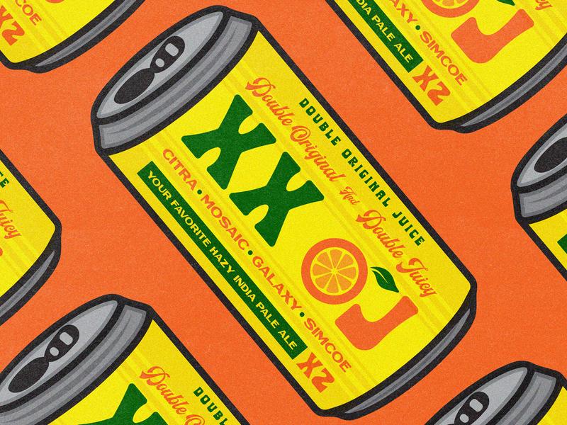 XX OJ STICKERS ipa xx oj craft beer orang juice hops packaging beer identity apparel type badge logo illustration branding typography