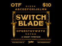 Switchblade Display Font vector sharp switchblade greaser knife resources new font font lettering type badge illustration branding typography