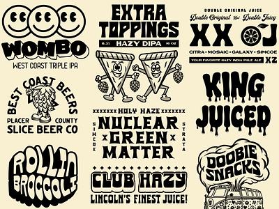 Beer Flash sheet craft beer packaging lettering beer identity logo badge branding illustration typography