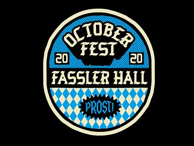 Fassler Oktoberfest prost okc tulsa craft beer design apparel identity badge illustration branding typography bar beer german pub oktoberfest