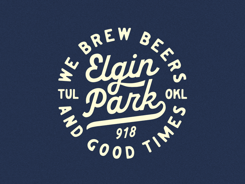 Elgin Park pizza beers brewery tulsa bar type apparel badge typogaphy baseball vintage