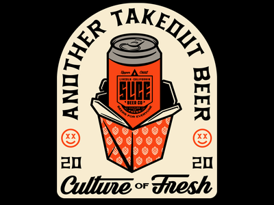 Another takeout beer 2020 food noodles takeout take-out design craft beer beer apparel identity logo badge illustration branding typography