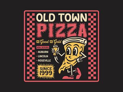 OTP Merch V2 restaurant craft beer craft beer apparel badge illustration branding typography mascot character pizza