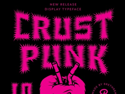CRUST PUNK spikey underground patches metal crust punk punk rock resources font apparel type badge illustration branding typography