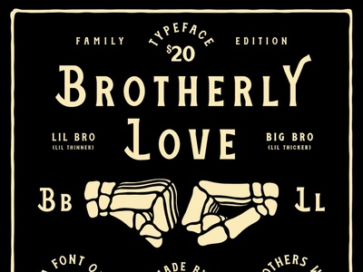 BROTHERLY LOVE FONT FAMILY brothers font family new font resources craft beer lettering packaging identity type logo badge illustration branding typography