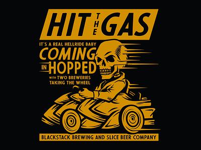 Coming in Hopped brethren craft beer packaging beer apparel identity badge illustration branding typography