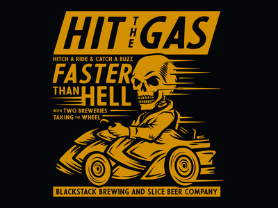 Faster Than Hell fast speed tough racing cars hop car hop skull apparel badge craft beer packaging beer identity illustration branding typography