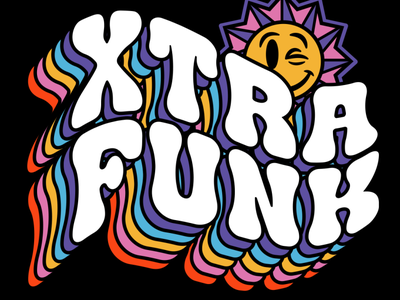 XTRA FUNK font family trippy funky hippy font lettering apparel packaging type branding illustration typography