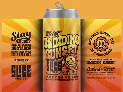 Blinding Sunset brethren lettering beer craft beer packaging identity badge illustration branding typography