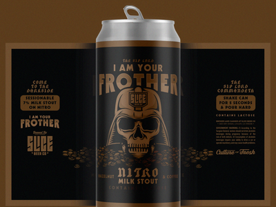 I AM YOUR FROTHER beer brethren craft beer packaging identity logo badge illustration branding typography