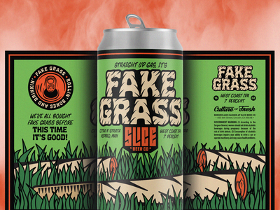 Fake Grass snorting smoking drinking grass weed brethren lettering craft beer packaging beer badge illustration branding typography