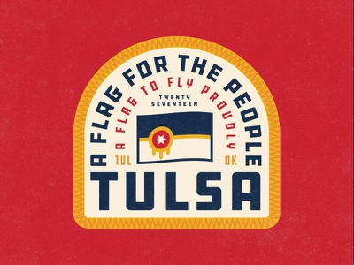 Tulsa Flag Patch apparel typography ddc badge tulsa flag patch