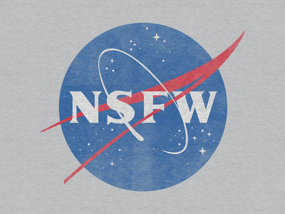 NSFW apparel design badge logo space parody nsfw nasa