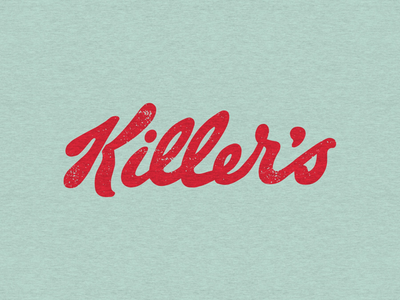Cereal variety typography cereal killer type parody logo kelloggs