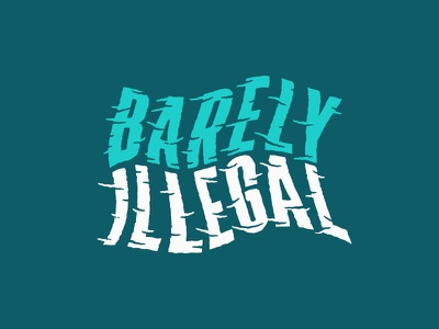 Barely Illegal Type waves lock up apparel surf branding typography type