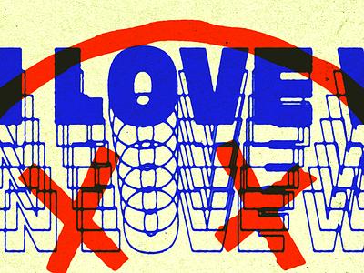 Auf wiedersehen love punk geocities 90s retro vintage typography ink bleed experiments type