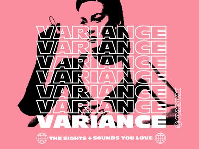 Variance Merch design sights sounds pink apparel typography street wear street variance music merch