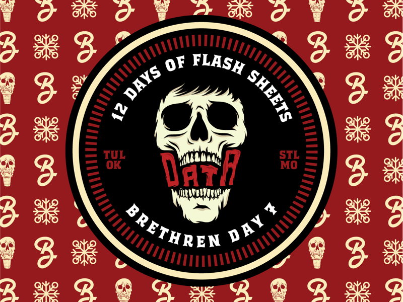 Day7 of the 12 days of Flash Sheets skull kevin ice cream home alone merch logos typography illustration apparel branding badge