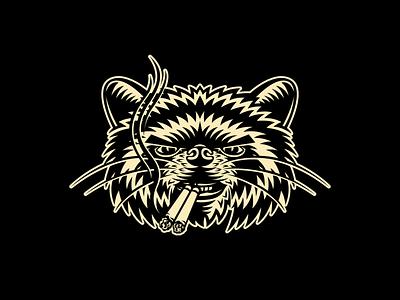 BRETHREN SMOKES identity mark animal logo branding illustration brethren smoke cigarettes raccon
