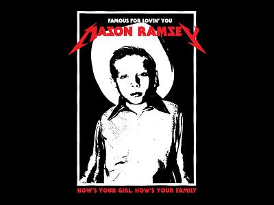 How's ya girl, How's ya fam? famous country apparel design parody badge typography merch metallica metal ramsey mason
