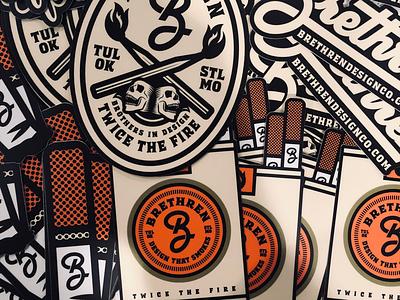 Slaps, maaaan badge design type fire st. louis tulsa stickers logo illustration typography smokes branding brethren slaps