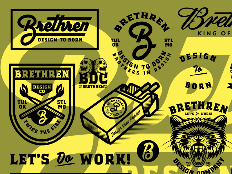 WE ARE BRETHREN brothers jerks skateboarding punk rock beer company smokes lettering design flash sheet lock up logo type typography illustration branding brethren