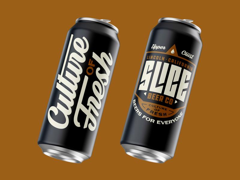SLICE TEASER crowler logo branding badge type typography can craft beer