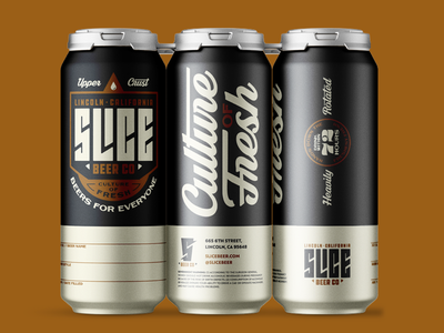 Crowler design for Slice Beer Co