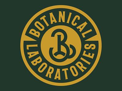 Botanical Laboratories Monogram Badge mark lock up typography type branding mary jane weed badge monogram