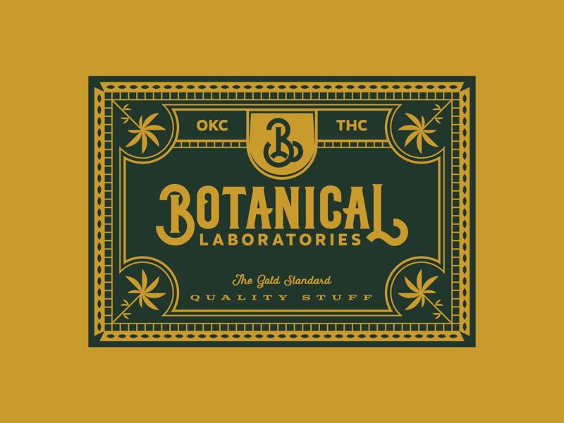 Botanical Laboratories marijuana pot thc okc letters illustration type badge typography cannabis detail branding weed