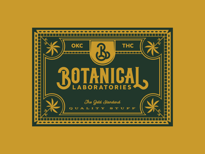Botanical Laboratories marijuana pot thc okc letters illustration type badge typography cannabis detail branding weed