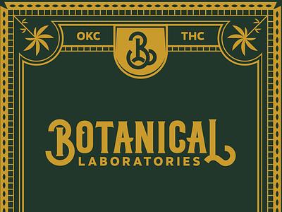 More Botanical laboratories design packaging botanical logo typography illustration branding cannabis monogram marijuana weed