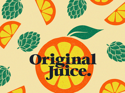 original juice original juice orange craft beer design vector illustration beer typography branding