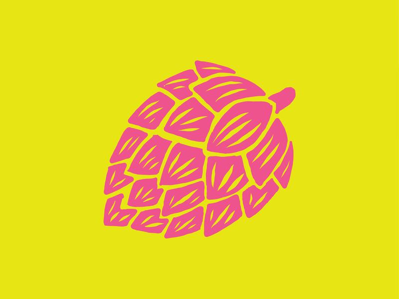 Hop Boi drink draw ipad iilo craft beer yellow pink illustration hop beer