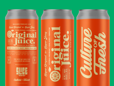 Original Juice Cans hops juice orange vintage mock up cans beer craft beer illustration typography packaging branding ipa hazy