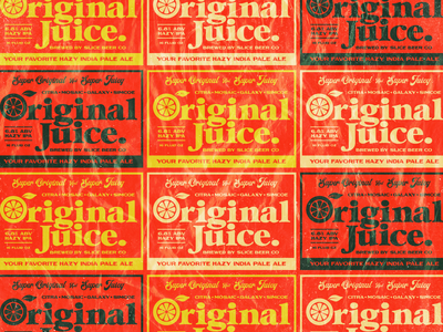 OJ label pattern packaging logo identity badge branding typography type craft beer beer hops juice orange oj original juice original juice