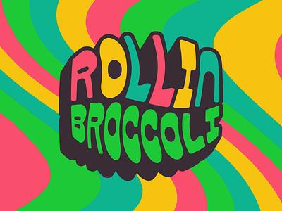 Roll it up psychedelic funky broccoli weed type mark design logo typography badge branding craft beer beer
