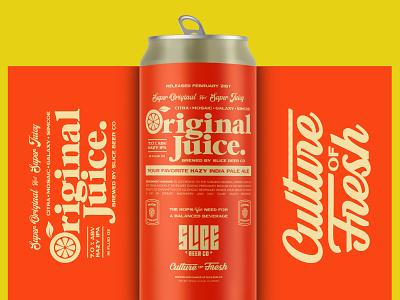 ORIGINAL JUICE beer label juice ipa orange juice craft beer packaging beer identity type branding typography