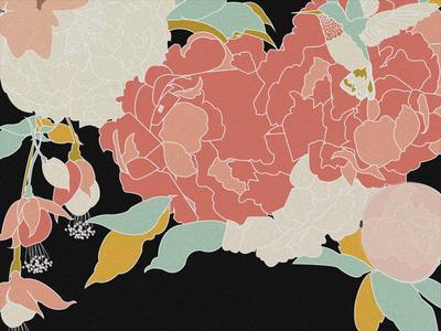 Dark Winter Floral Detail