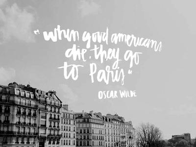 Oscar Wilde and Paris