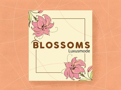 Blossoms floral design floral logo flower vector branding minimalist logo brand design art logotype logo