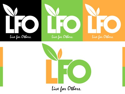 LFO brand design vector logo design