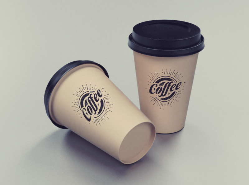 Free Two Coffee Cups Mockup by Bobby on Dribbble