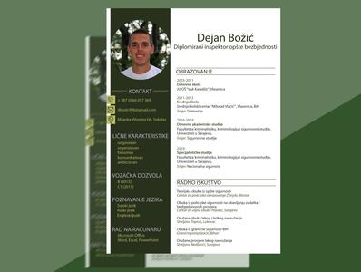 CV image lines work education experience job page layout resume design cv light dark green round rectangular design