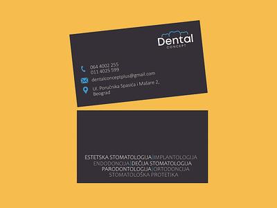 Business card_Dental business card design design tooth teeth black work job email phone number contact location dentist dental business card back side front side