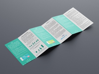 Flyer text font grey green page layout design graphic design graphics fold more pages flyer design