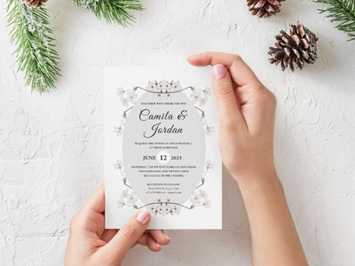 Flower Wedding Invitation Template design wedding stationery wedding set weddings wedding invitation wedding design wedding printable print free