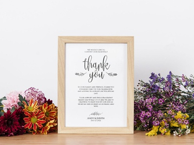 Thanks Wedding Signs Word Template design wedding stationery wedding set weddings wedding invitation wedding design wedding printable print free