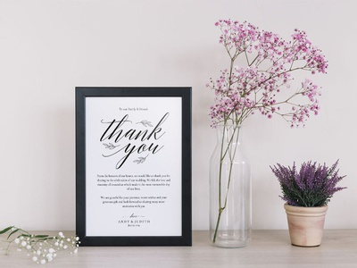Thank You Wedding Sign Template design wedding stationery wedding set weddings wedding invitation wedding design wedding printable print free